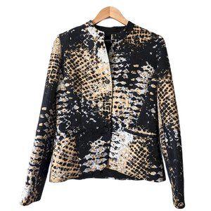 Lafayette 148 Snakeskin Print Blazer Jacket Size 6